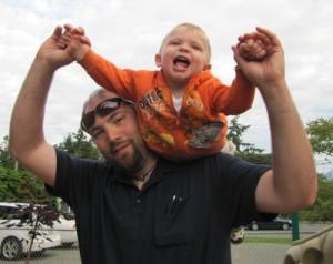 Bob and his son Quinn